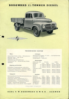 Borgward 1,5 to Prospekt 1954