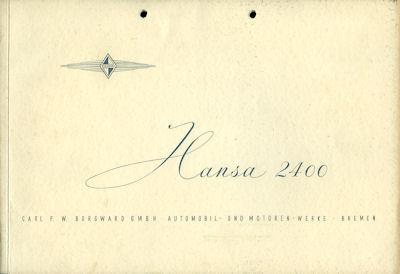 Borgward Hansa 2400 Prospekt 3.1953
