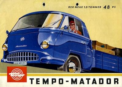 Tempo Matador 1,3t Prospekt 1963