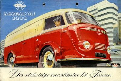 Tempo Matador 1400 Prospekt 1952