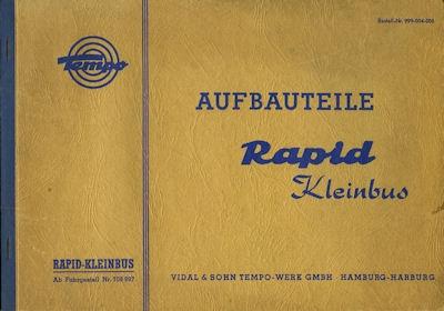 Tempo Rapid Ersatzteilliste Aufbauteile 2.1960