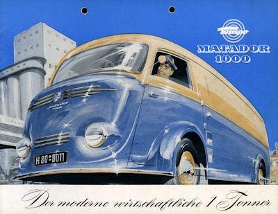 Tempo Matador 1000 Prospekt 1953