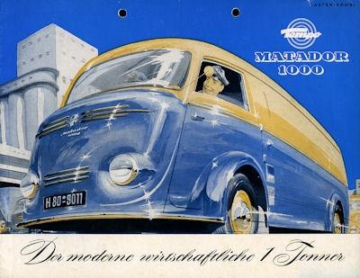 Tempo Matador 1000 Prospekt 1954