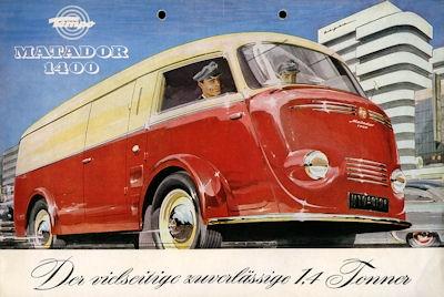 Tempo Matador 1400 Prospekt ca. 1953