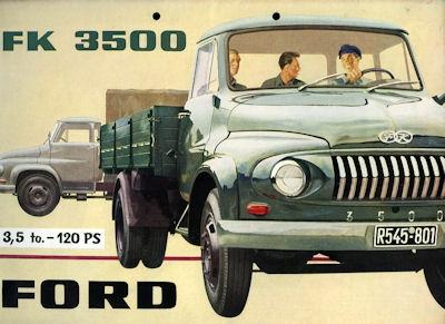 Ford FK 3500 Prospekt ca. 1955