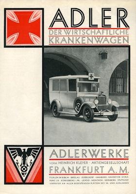 Adler Krankenwagen Prospekt 5.1931