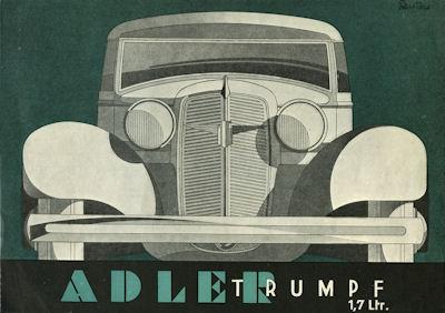 Adler Trumpf 1,7 Ltr. Prospekt 1935