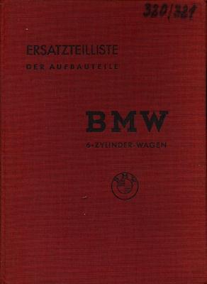BMW 320 / 321 Ersatzteilliste ca. 1939