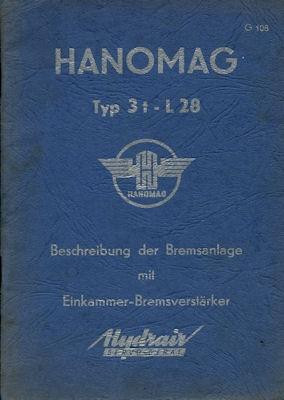 Hanomag L 28 Bremsen-Bedienungsanleitung 1956