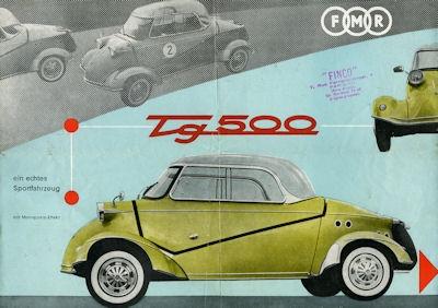 Messerschmitt Tg 500 Prospekt 1950er Jahre