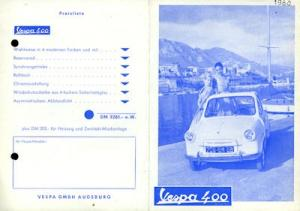 Vespa 400 Prospekt ca. 1960