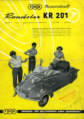 Messerschmitt KR 201 Prospekt 1950er Jahre f