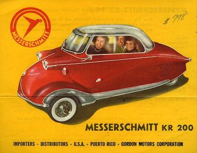 Messerschmitt KR 200 Prospekt 1950er Jahre