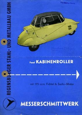 Messerschmitt KR 175 Prospekt 1950er Jahre