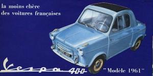 Vespa 400 Prospekt ca. 1961 f