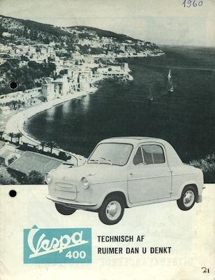 Vespa 400 Prospekt ca. 1960 nl
