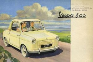 Vespa 400 Prospekt 1950er Jahre