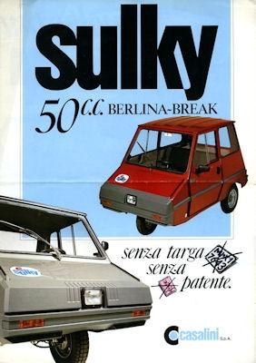 Sulky 50 c.c. Prospekt 1970er Jahre