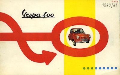 Vespa 400 Prospekt ca. 1960 f