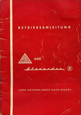 Lloyd Alexander 600 Bedienungsanleitung ca. 1958