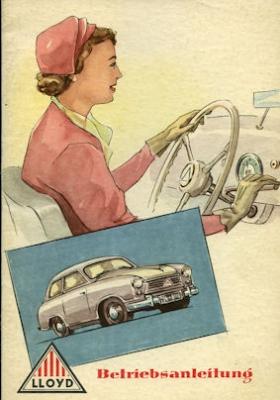 Lloyd LP 400 S, LS 400 S, LT 500 Bedienungsanleitung 1954