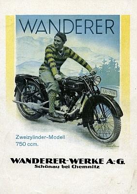 Wanderer 750 ccm Prospekt 5.1928