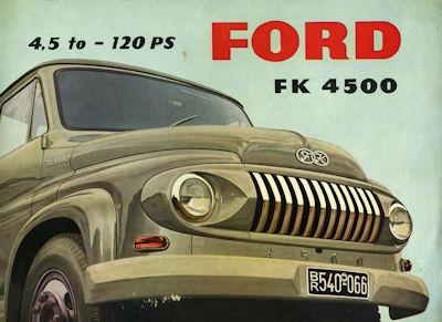 Ford FK 4500 Prospekt 1955