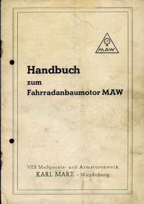MAW Bedienungsanleitung 1954
