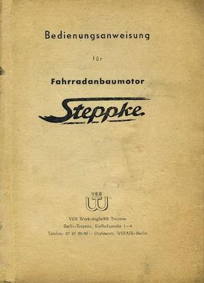 Steppke 38,5 ccm Fahrradanbaumotor Bedienungsanleitung 1955