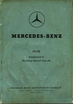 Mercedes-Benz 190 SL Reparaturanleitung 8.1958 e