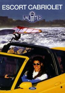 Ford Escort Cabriolet Unlimited Prospekt 1995