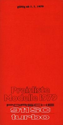 Porsche 911 Preisliste 1979