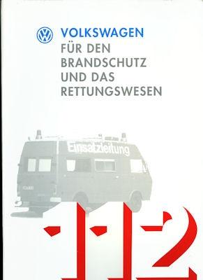 VW T 4 Mappe Brandschutz / Rettungswesen 1994