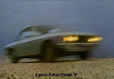 Lancia Fulvia Coupe 3 Prospekt 1970er Jahre