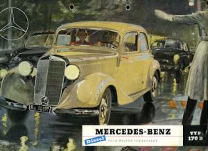 Mercedes-Benz 170 D Prospekt 1951