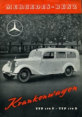 Mercedes-Benz 170 V / D Krankenwagen Prospekt 1951