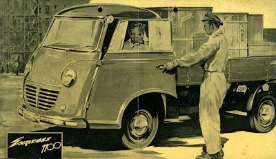 Goliath Express 1100 Pritsche 1950er Jahre Prospekt