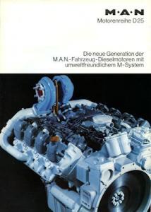 MAN Motorreihe D 25 Prospekt 1980er Jahre