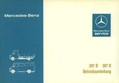 Mercedes-Benz 207 307 D Bedienungsanleitung 1981