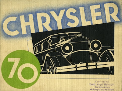 Chrysler 70 Prospekt 1920er Jahre