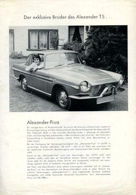 Lloyd Alexander Frua Prospekt 2.1959