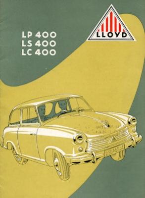 Lloyd LP LS LC 400 Prospekt ca. 1954