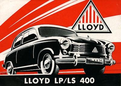 Lloyd LP LS 400 Prospekt ca. 1956