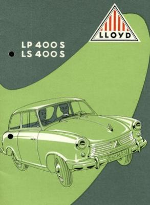 Lloyd LP 400 S und LS 400 S Prospekt ca. 1954