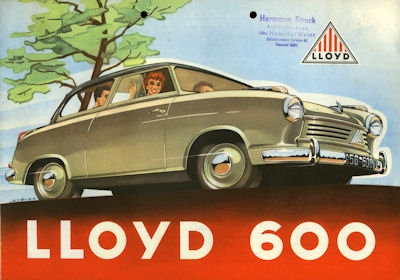Lloyd 600 Prospekt ca. 1956