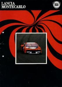 Lancia Montecarlo Prospekt ca. 1980