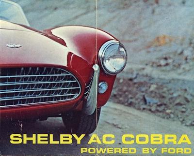 Shelby AC Cobra Prospekt 1960er Jahre