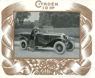 Citroen 10 PS Prospekt ca. 1925 f