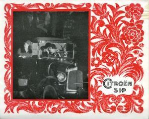 Citroen 5 PS Prospekt ca. 1924 f