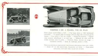 Citroen 5 PS Prospekt ca. 1924 f 1